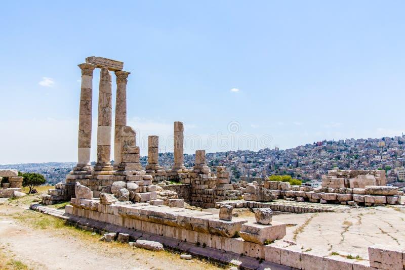 De Tempel van Hercules in Amman, Jordanië royalty-vrije stock fotografie