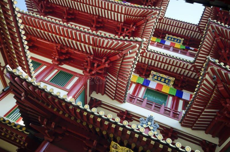 De Tempel van het de Tandoverblijfsel van Boedha in de Stad van China, Singapore stock foto