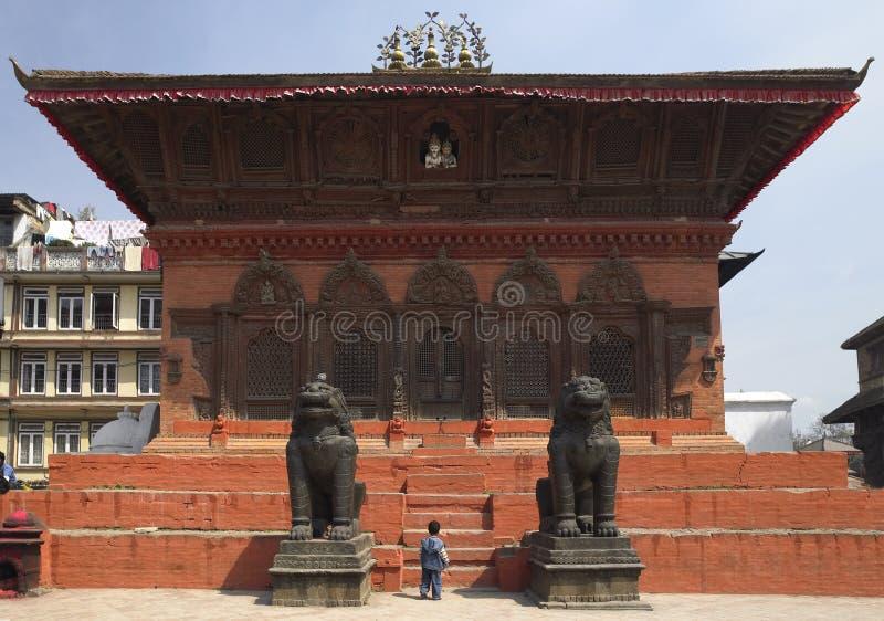 De Tempel van het huis - Vierkant Durbar - Katmandu - Nepal stock afbeelding