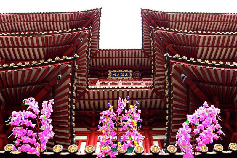 De Tempel van het de Tandoverblijfsel van Boedha, beroemde toeristische attracties in Singapore royalty-vrije stock afbeeldingen