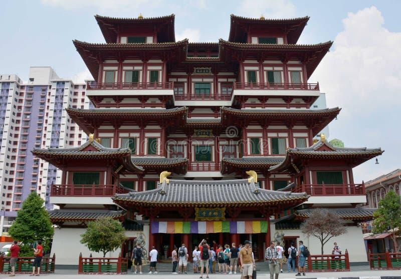 De Tempel van het de Tandoverblijfsel van Boedha en Museum, Singapore royalty-vrije stock fotografie