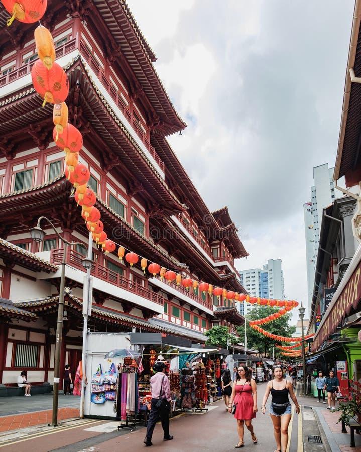 De Tempel van het de Tandoverblijfsel van Boedha, de Stad van China, Singapore royalty-vrije stock afbeelding