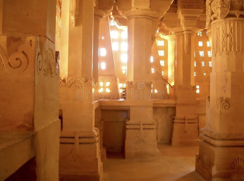 De tempel van Jain binnen stock fotografie