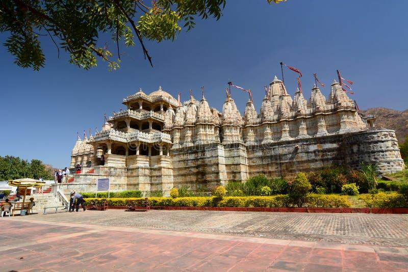 De tempel van Jain Ranakpur Rajasthan India royalty-vrije stock afbeeldingen