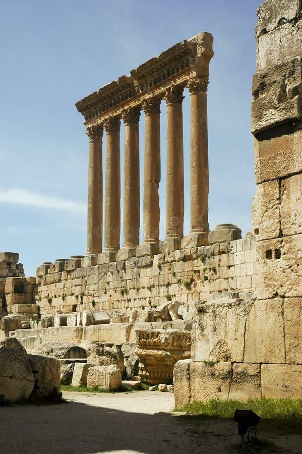 De tempel van Jupiter in Heliopolis stock afbeeldingen
