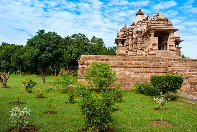 De Tempel van Kandariyamahadeva, gewijd aan Shiva, Khajuraho, India royalty-vrije stock foto