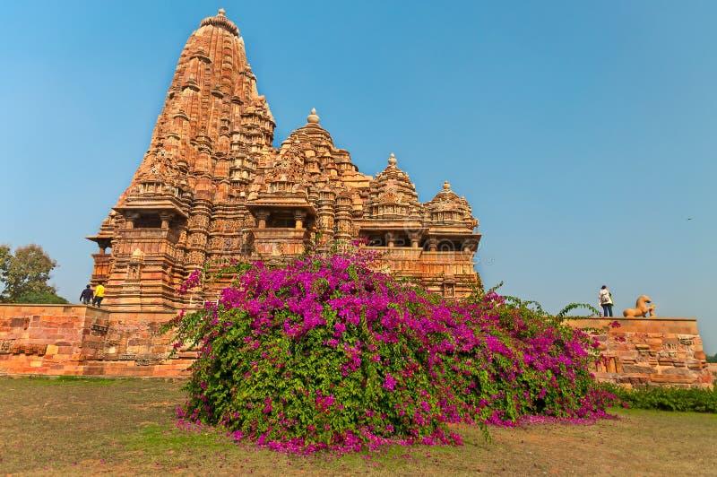 De tempel van Kandariyamahadeva in Khajuraho royalty-vrije stock afbeelding