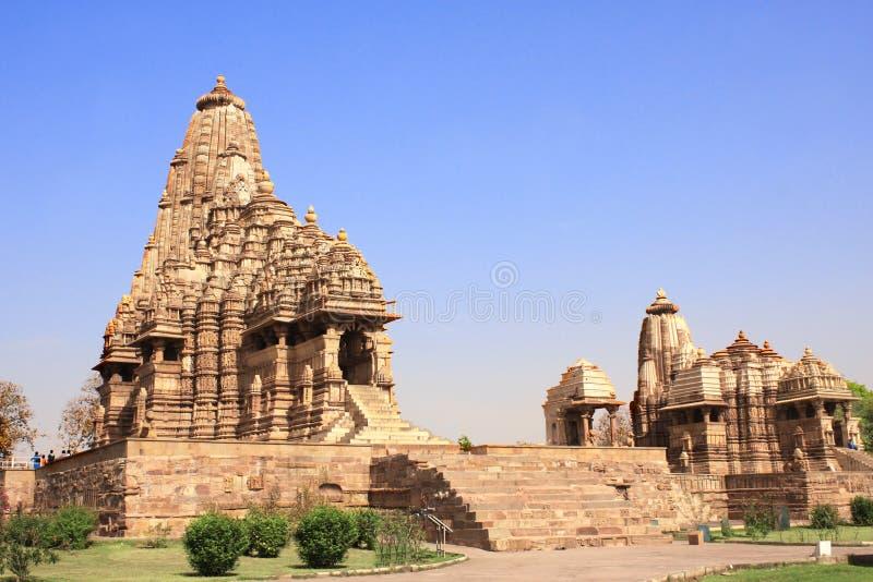 De Tempel van Kandariyamahadeva, Khajuraho, Madya Pradesh, India royalty-vrije stock afbeeldingen