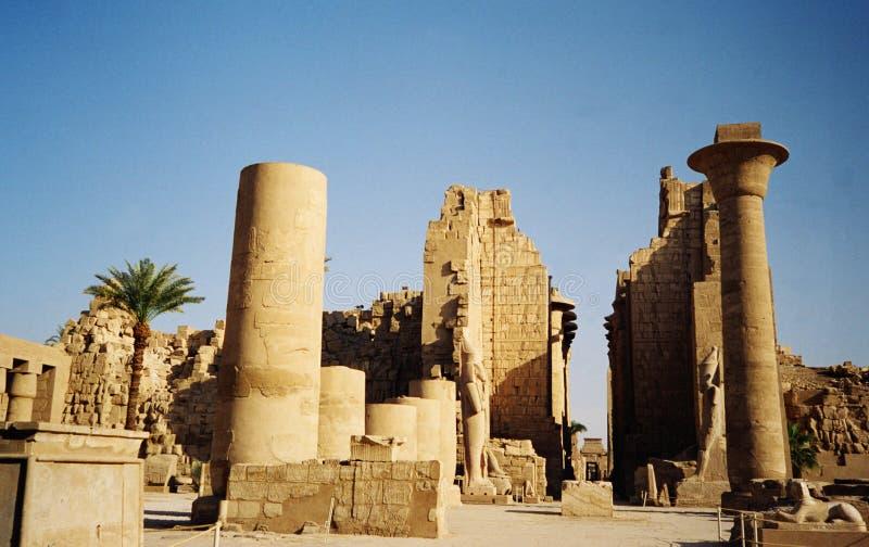 De tempel van Karnak, Egypte stock afbeeldingen