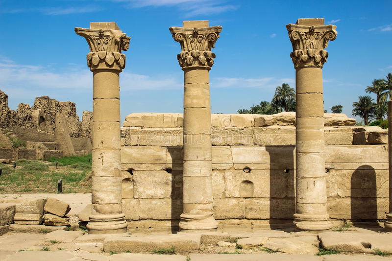 De tempel van Karnak in Luxor royalty-vrije stock afbeeldingen
