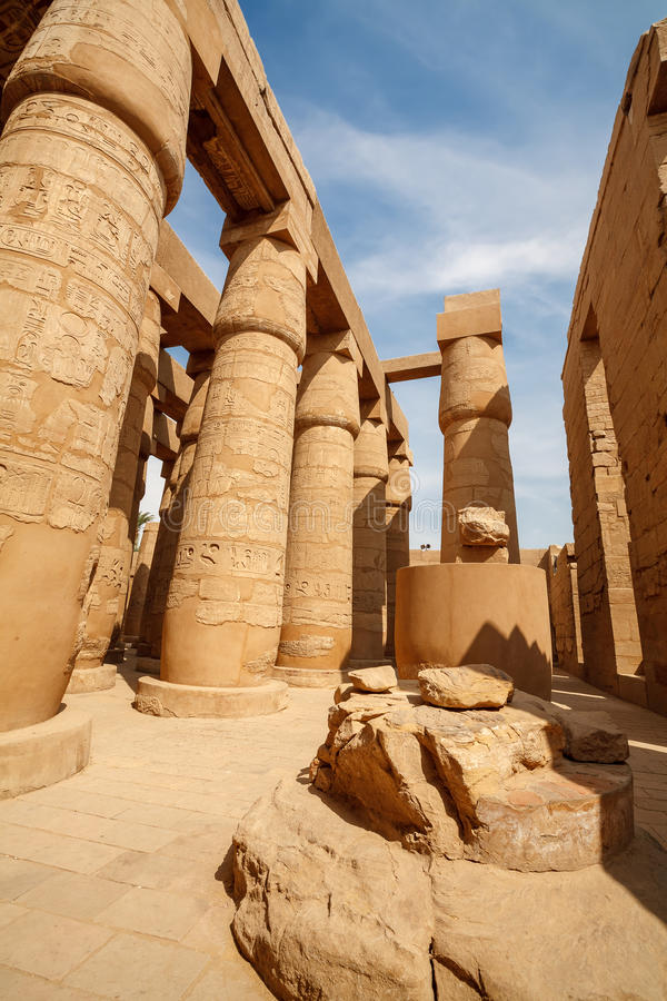 De Tempel van Karnak in Luxor. Egypte stock foto