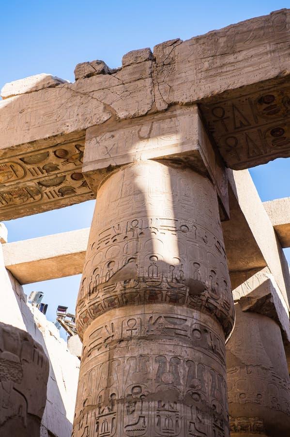 De Tempel van Karnak, Luxor, Egypte royalty-vrije stock afbeelding