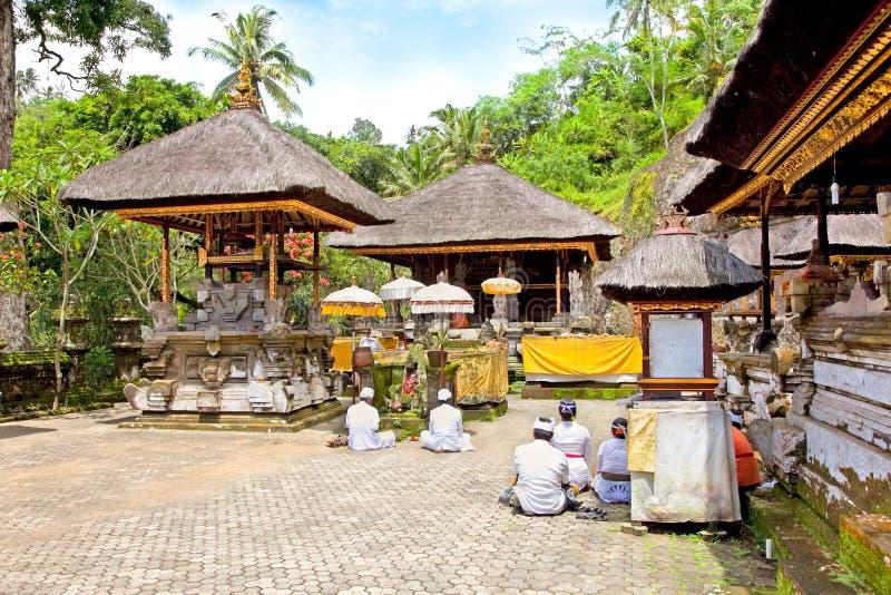 De Tempel van Kawi van Gunung en Candi, Bali, Indonesië stock foto