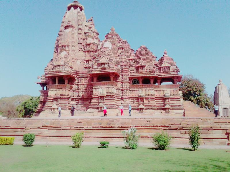 De tempel van Khajuraho royalty-vrije stock afbeelding