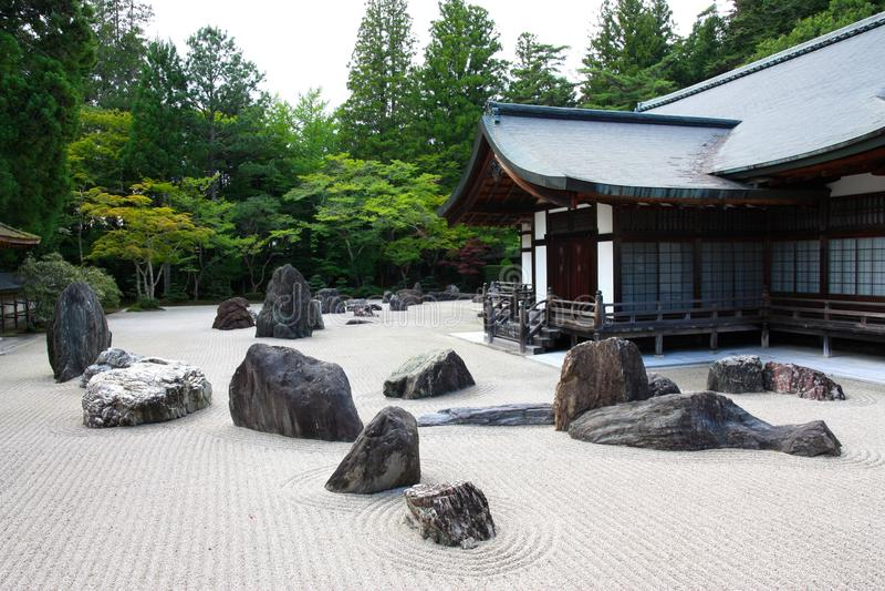 De tempel van Kongobuji, Koyasan, Japan royalty-vrije stock afbeelding