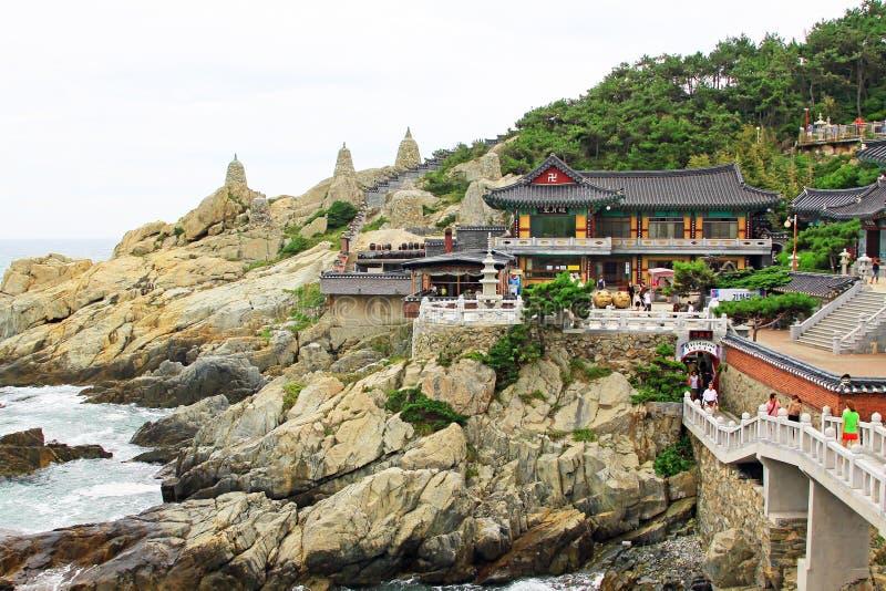 De Tempel van Korea Busan Haedong Yonggungsa royalty-vrije stock afbeelding