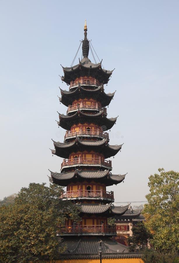 De Tempel van Longhua in Shanghai stock afbeeldingen