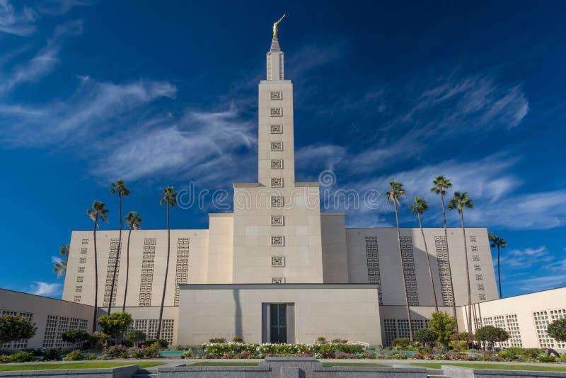 De Tempel van Los Angeles Californië royalty-vrije stock afbeelding