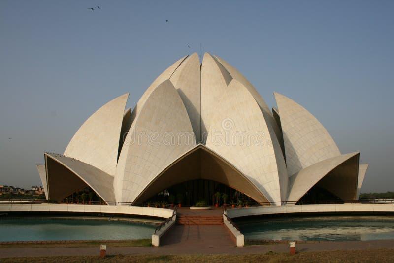 De Tempel van Lotus in Delhi royalty-vrije stock afbeelding