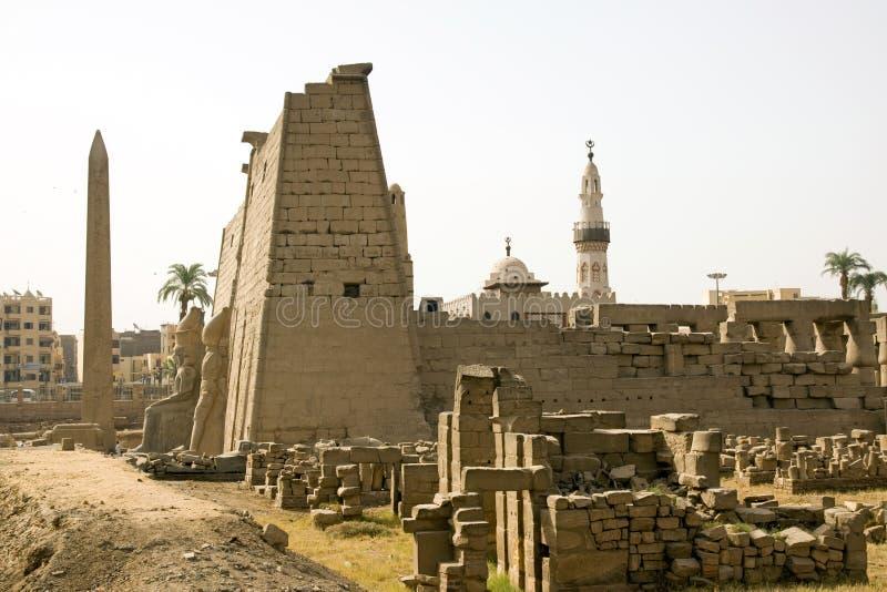 De tempel van Luxor stock afbeelding