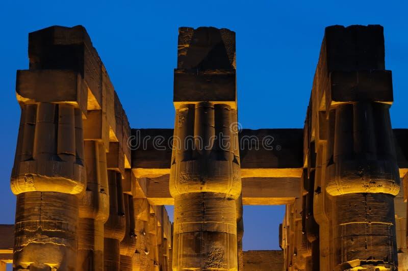 De tempel van Luxor op de nacht royalty-vrije stock fotografie