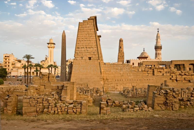 De tempel van Luxor overvew royalty-vrije stock afbeelding
