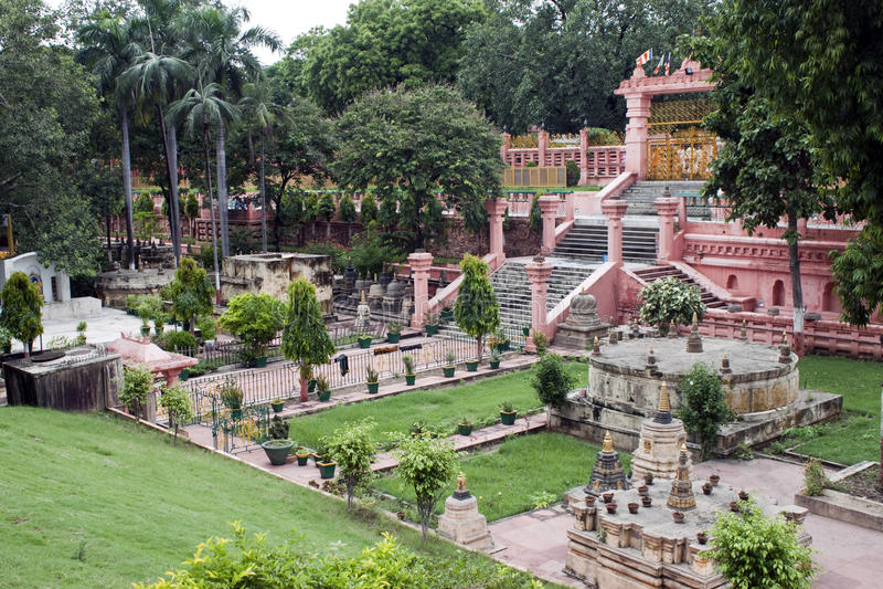 De tempel van Mahabodhi in Bodhgaya royalty-vrije stock afbeelding
