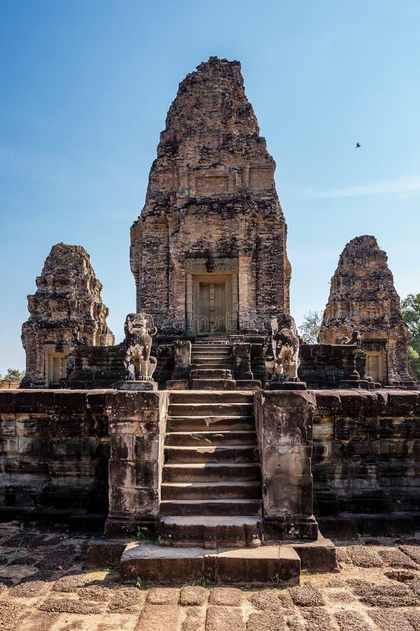 De tempel van Mebon van het oosten in Angkor Wat complex in Siem oogst, Kambodja stock foto