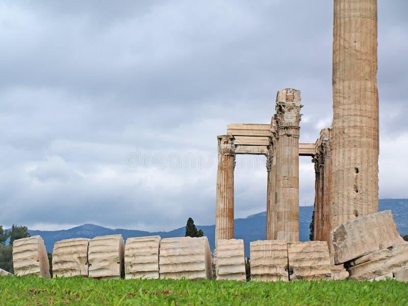 De tempel van Olympian Zeus stock foto's