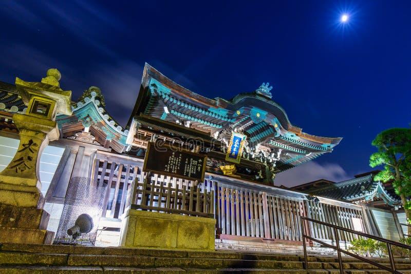 De tempel van Otanihombyo in Kyoto bij nacht, Japan royalty-vrije stock afbeeldingen