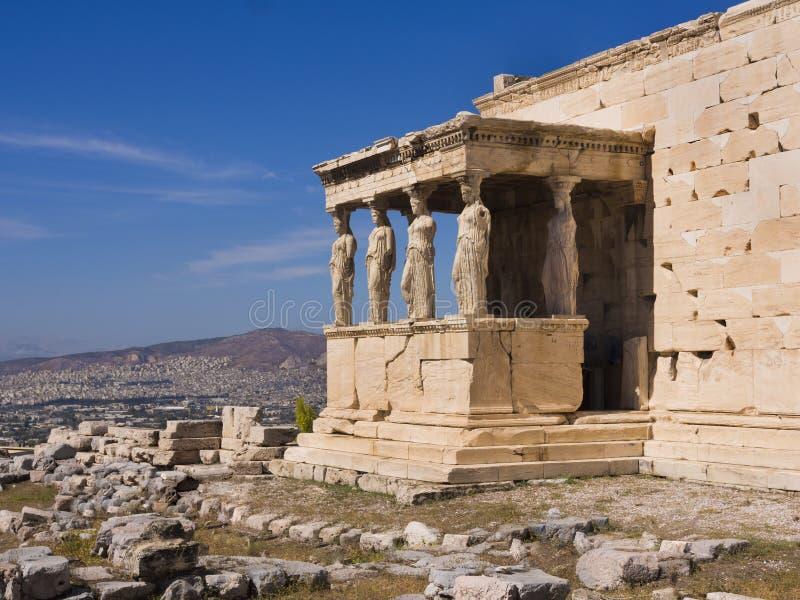 De Tempel van Parthenon, Athene, Griekenland stock afbeelding