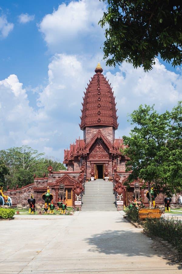De tempel van Praipattana in Phu zingt district, Si Sa Ket, Thailand royalty-vrije stock fotografie