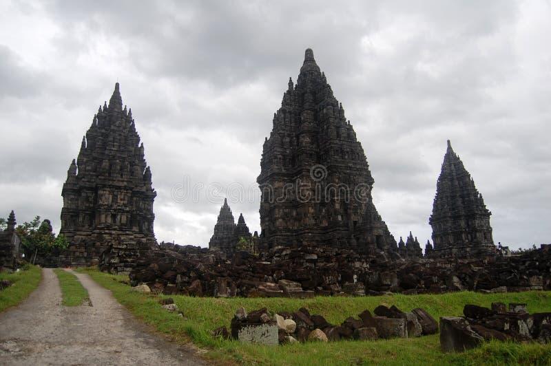De tempel van Prambananbuddism, Bokoharjo, Jawa, Indonesië stock foto