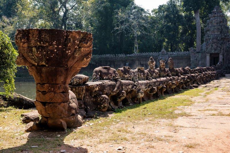 De tempel van Preahkhan in complexe Angkor Wat in Siem oogst, Kambodja stock foto