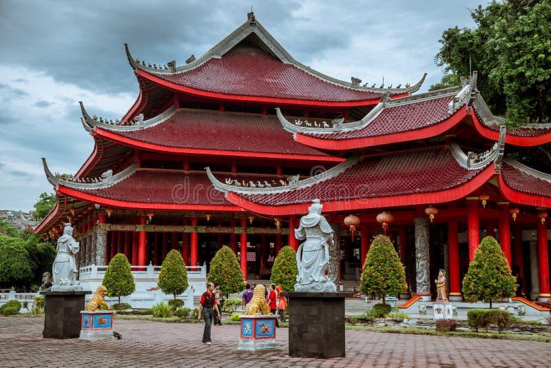 De Tempel van Sam Poo Kong Temple Gedung Batu, de oudste Chinese tempel in Centraal Java Semarang, Indonesië Juli 2018 royalty-vrije stock afbeeldingen