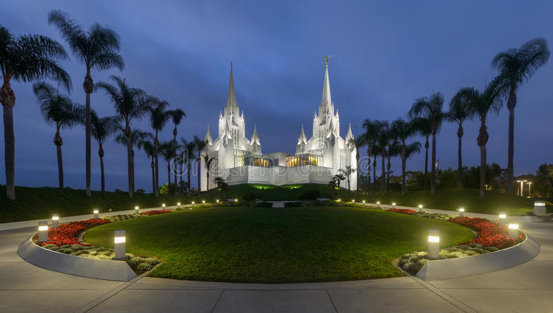 De Tempel van San Diego Californië stock afbeeldingen