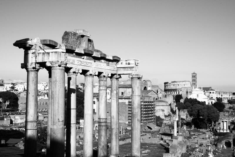 De tempel van Saturn stock foto's