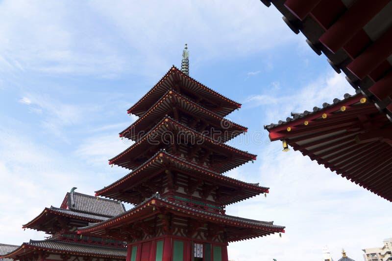 De tempel van Shitennoji royalty-vrije stock foto's
