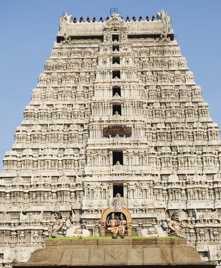 De Tempel van Shiva, Thiruvannamalai, Tamil Nadu, India royalty-vrije stock afbeelding