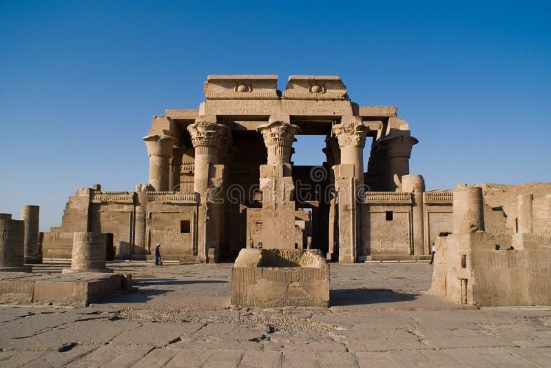 De tempel van sobek, Kom Ombo, Egypte stock foto's