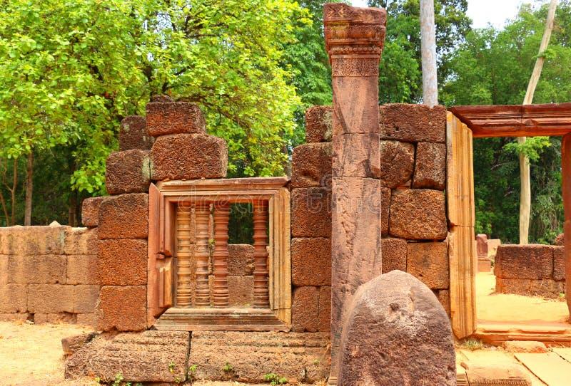 De tempel van Srei van Banteay, Angkor Wat, Kambodja stock foto's