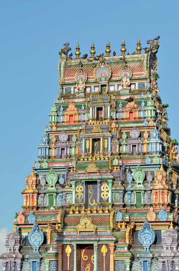 De tempel van Srisiva subramaniya in Nadi, Fiji stock afbeelding