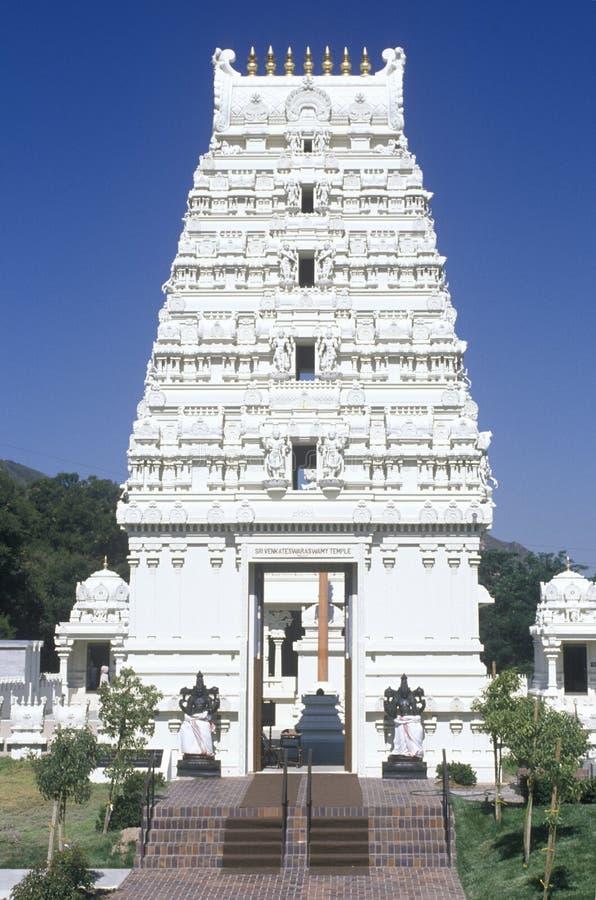 De Tempel van Srivenkateshwara in Malibu Californië stock foto