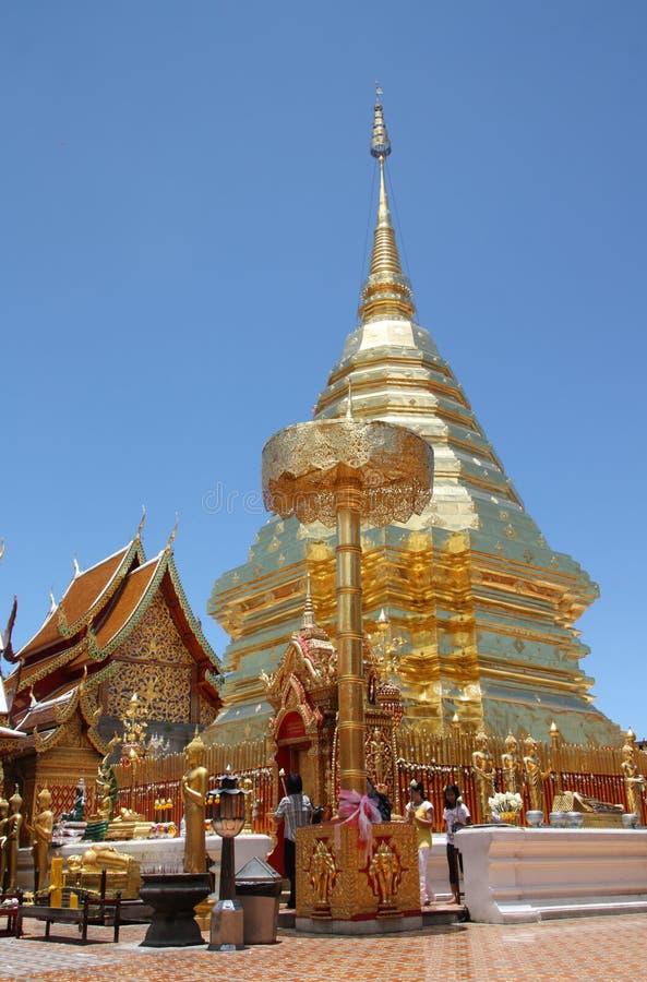De Tempel van Suthep van Doi, Chiang MAI, Thailand royalty-vrije stock afbeelding