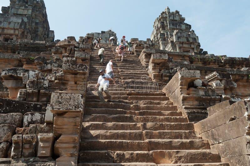 De tempel van Ta Keo. Angkor. Kambodja stock afbeeldingen