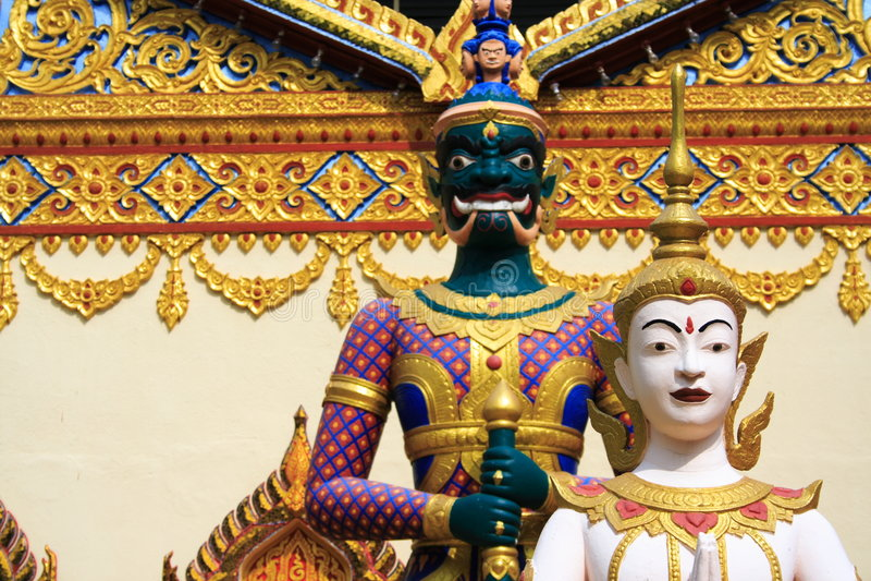 De Tempel van Thailand in Penang stock afbeelding