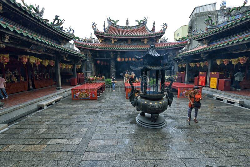 De Tempel van Theanhou in Lukang stock afbeeldingen
