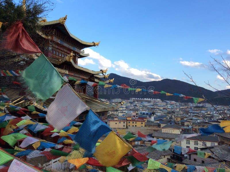 De tempel van Tibet in Shangrila-stad, China royalty-vrije stock afbeeldingen