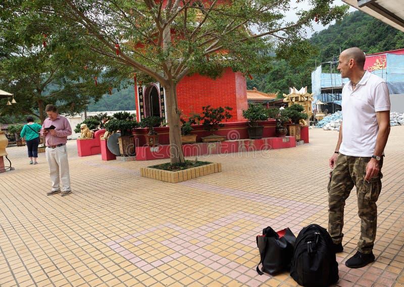 De tempel van tienduizendtalboedha in Hongkong royalty-vrije stock foto's