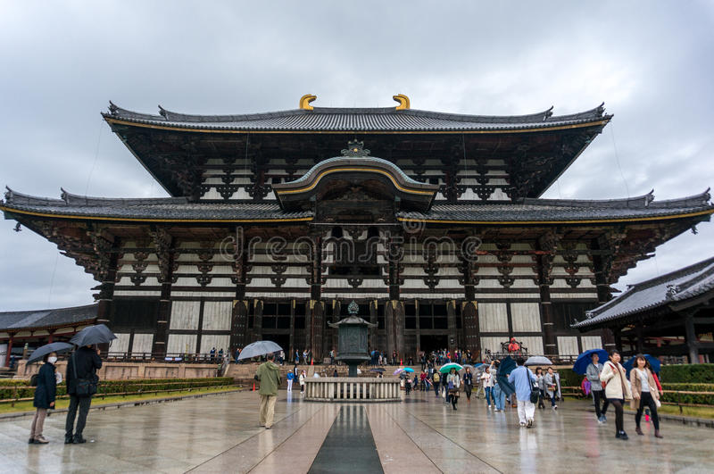De tempel van Todaiji, Nara, Japan stock foto